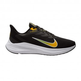 Nike Scarpe Running Zoom Winflo 7 Nero University Gold Uomo