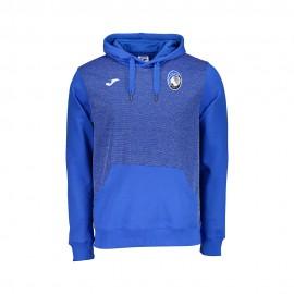 Joma Sport Felpa Calcio C/Capp Atalanta Free Time Azzurro Uomo