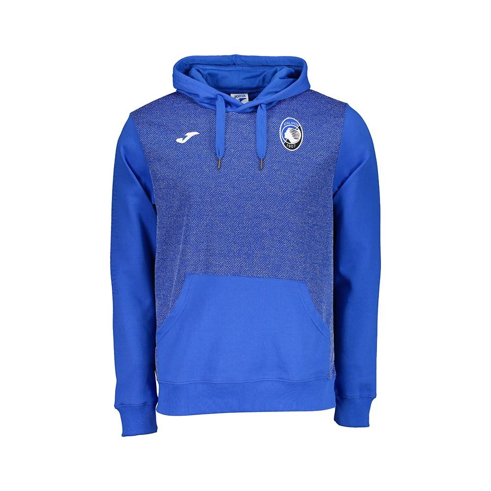 Joma Sport Felpa Calcio C/Capp Atalanta Free Time Azzurro Uomo ...