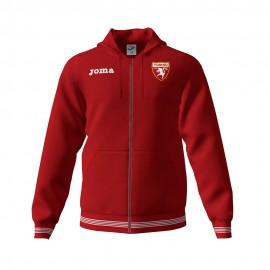 Joma Sport Felpa Calcio C/Capp Zip Torino Free Time Granata Bambino