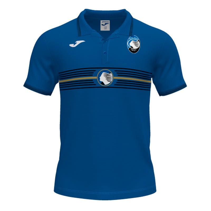 Joma Sport Polo Calcio Atalanta Free Time Azzurro Uomo