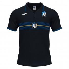 Joma Sport Polo Calcio Atalanta Free Time Nero Uomo
