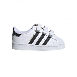 ADIDAS originals sneakers superstr cf i velcro bianco nero bambino