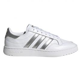 ADIDAS originals sneakers team court bianco argento metal donna