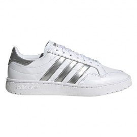 ADIDAS originals sneakers team court bianco argento metal donna