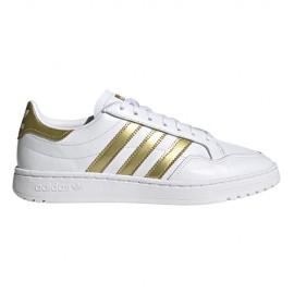 ADIDAS originals sneakers team court bianco gol metal donna