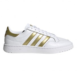 ADIDAS originals sneakers team court bianco gol metal donna