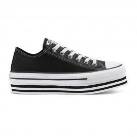 Converse Sneakers All Star Eva Lift Ox Nero Bianco Donna