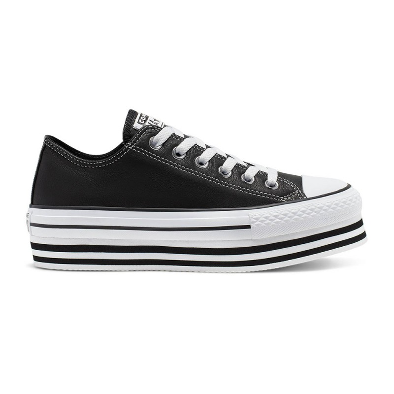 Converse Sneakers All Star Eva Lift Ox Nero Bianco Donna