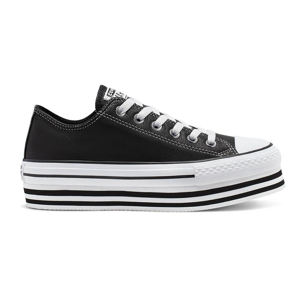 Converse Sneakers All Star Eva Lift Ox Nero Bianco Donna ...