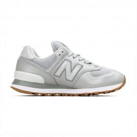 New Balance Sneakers 574 Lea Grigio Argento Donna