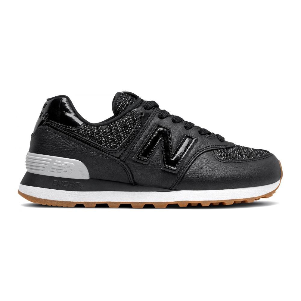 New Balance Sneakers 574 Lea Nero Argento Donna - Acquista online ...