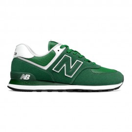 New Balance Sneakers 574 Mesh Suede Verde Bianco Uomo