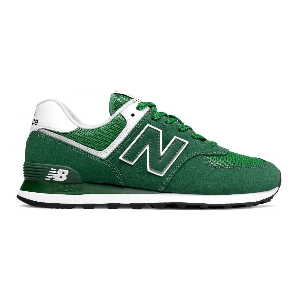 New Balance Sneakers 574 Mesh Suede Verde Bianco Uomo - Acquista ...