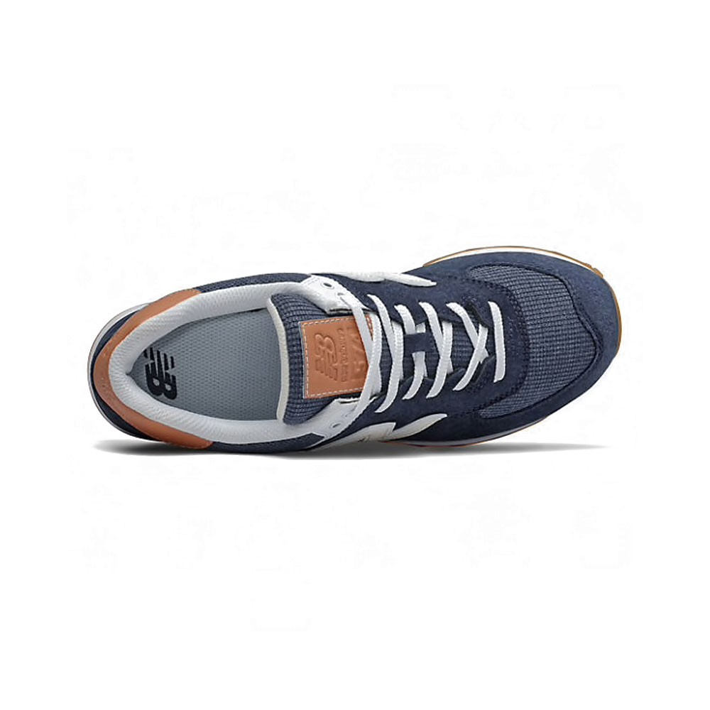 New Balance Sneakers 574 Suede Blu Bianco Uomo - Acquista online ...