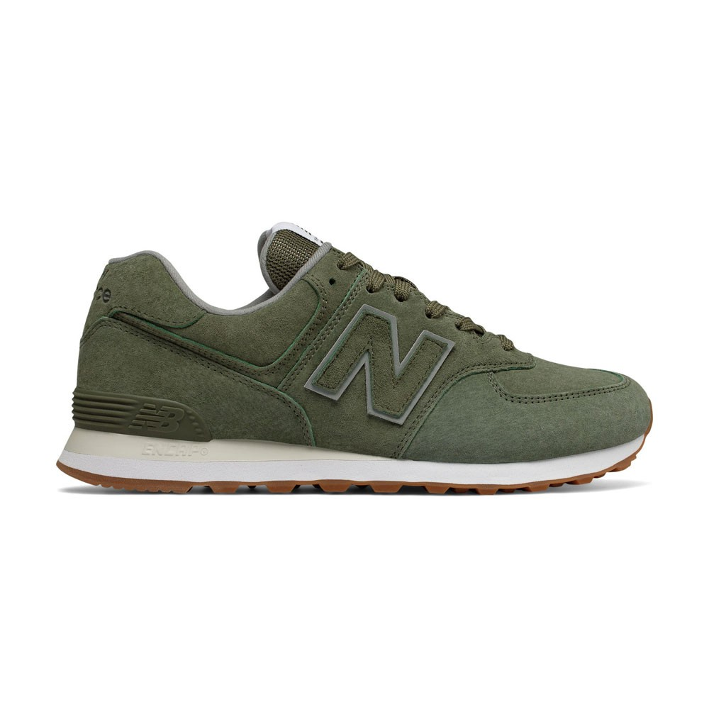 New Balance Sneakers 574 Suede Verde Uomo - Acquista online su ...