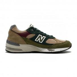 New Balance Sneakers 991 Beige Verde Uomo