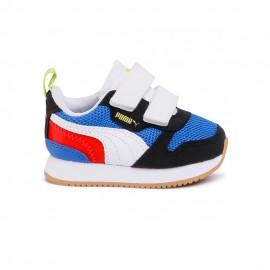 Puma Sneakers R78 V Blu Bianco Bambino