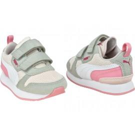 Puma Sneakers R78 V Rosa Bianco Bambino