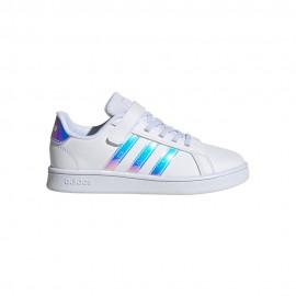 ADIDAS sneakers grand court c bianco argento bambina