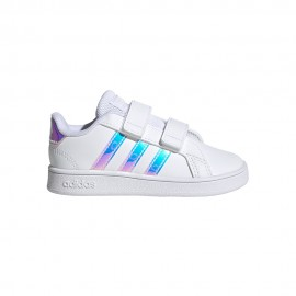 ADIDAS sneakers grand court i bianco argento bambina