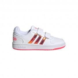 ADIDAS sneakers hoops 2.0 cmf c bianco rosa bambina