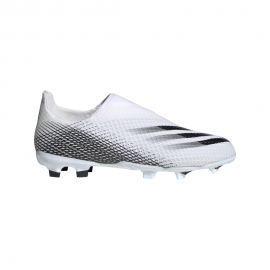 ADIDAS scarpe da calcio x ghosted .3 ll fg bianco nero bambino