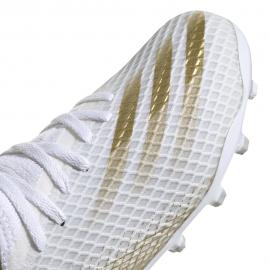 ADIDAS scarpe da calcio x ghosted .3 mg bianco oro bambino