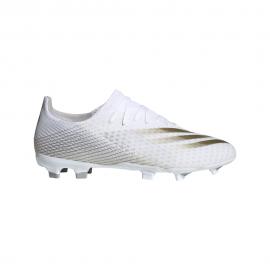 ADIDAS scarpe da calcio x ghosted .3 fg bianco oro uomo