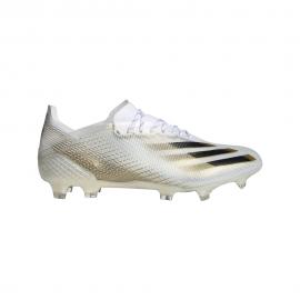 ADIDAS scarpe da calcio x ghosted .1 fg bianco oro uomo