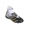 ADIDAS scarpe da calcio predator 20.3 tf bianco oro bambino