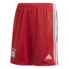 ADIDAS pantaloncini calcio bayern home 20 21 rosso bambino