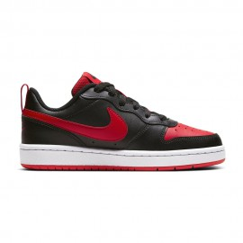 Nike Sneakers Court Borough Low 2 Gs Nero Rosso Bambino
