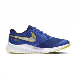 Nike Sneakers Star Runner 2 Gs Blu Argento Bambino