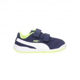 Puma Sneakers Stepfleex 2 Mesh Blu Lime Bambino