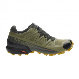 Salomon Scarpe Trail Running Speedcross 5 Gtx Verde Uomo