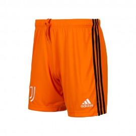 ADIDAS pantaloncini calcio juve 3° 20/21 arancio nero uomo