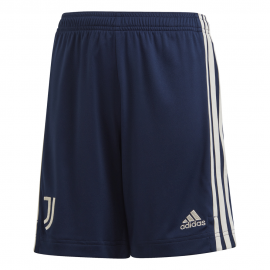 ADIDAS pantaloncini calcio juve away 20/21 blu bianco bambino