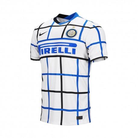 Nike Maglia Calcio Inter Away 20/21 Bianco Nero Bambino