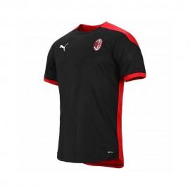 Puma Maglia Calcio Mm AC MIlan Training Nero Rosso Bambino
