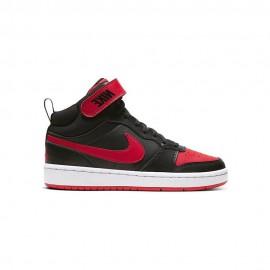 Nike Sneakers Court Borough Mid 2 Gs Nero Rosso Bambino