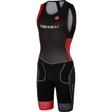 Castelli Body Triathlon Tri Itu Suit Black/Red