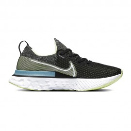 Nike Scarpe Running Epic React Infinity Nero Bianco-Barely Volt-Gl Donna