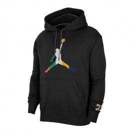 Nike Felpa Jumpan Jordan Nero Uomo