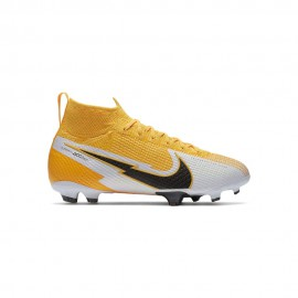Nike Scarpe Calcio Superfly 7 Elite Fg Giallo Bianco Nero Bambino