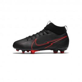 Nike Scarpe Calcio Superfly 7 Academy Fg Mg Nero Rosso Bambino