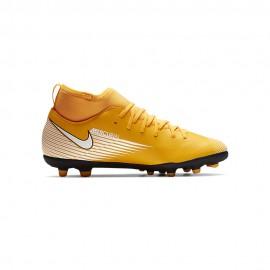 Nike Scarpe Calcio Superfly 7 Club Fg Mg Giallo Bianco Nero Bambino