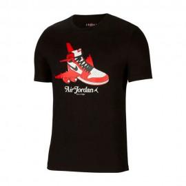 Nike T-Shirt Logo Shoes Jordan Nero Uomo