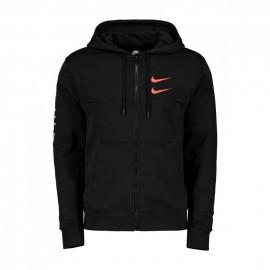 Nike Felpa Con Cappuccio Swoosh Nero Uomo