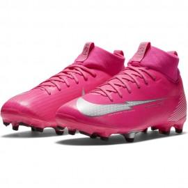 Nike Scarpe Calcio Superfly 7 Academy Km Fg Mg Rosa Bianco Bambino